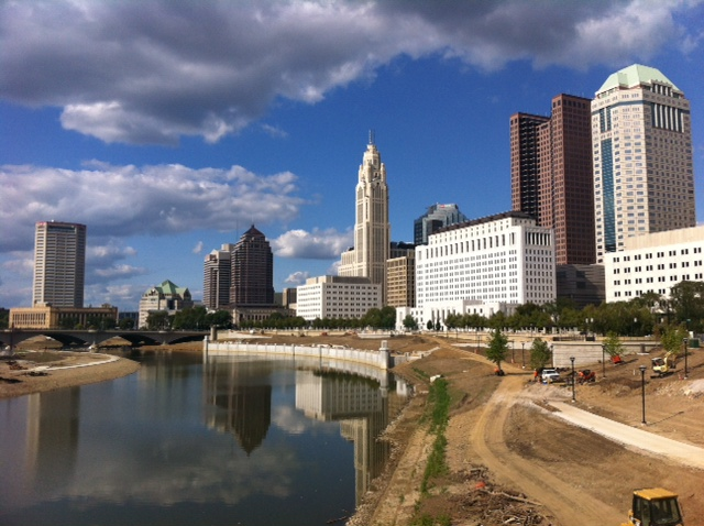 Scioto Mile with construction.JPG