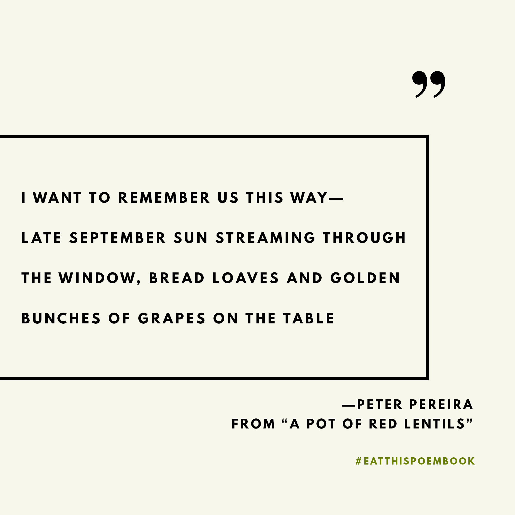 Celebrating National Poetry Month with quotes from the Eat This Poem Cookbook