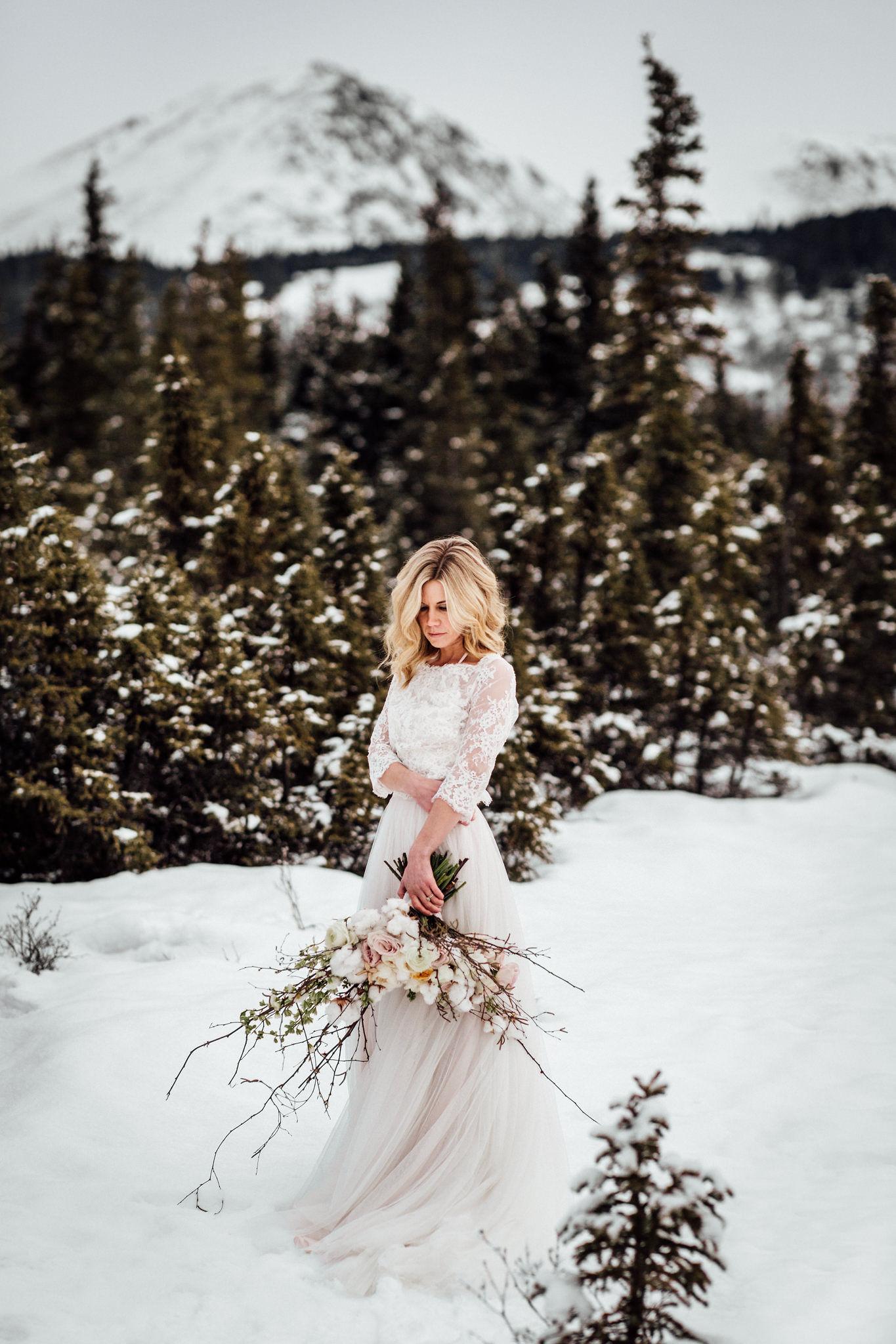 Blomma Designs - Anchorage, Alaska Wedding Design, Decor and Floral - Winter Wedding Bouquet