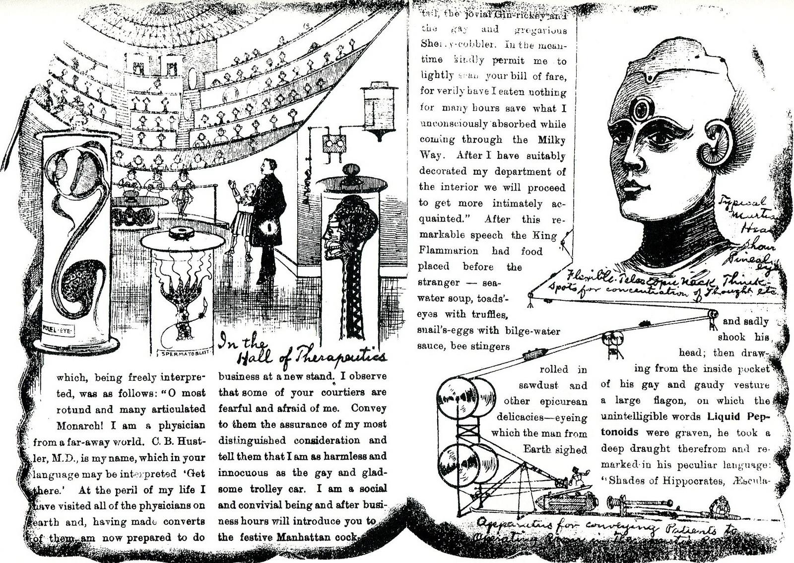 Scanned from C.B. Hustler's  The Mars Gazette  by alittleblackegg.