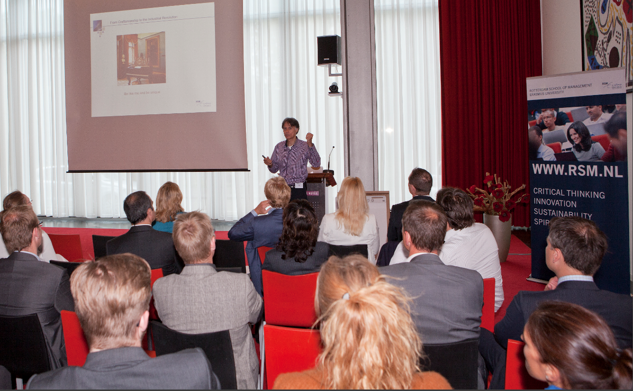 Presenting for Executives in Amsterdam on June 29, 2013 on behalf of the  Rotterdam School of Management . Photo by  William Maanders .
