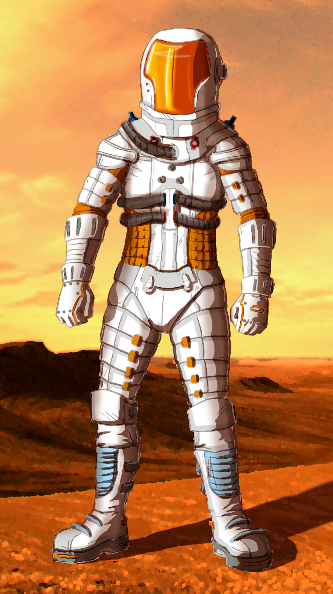 A potential design for the Mars space suits