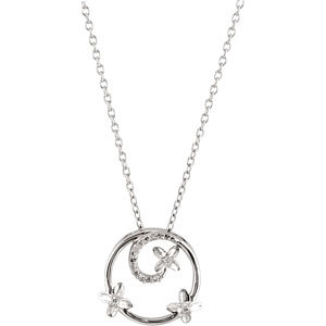 Diamond Necklace, .07 ct tw, sterling silver, style #69483, $219.00