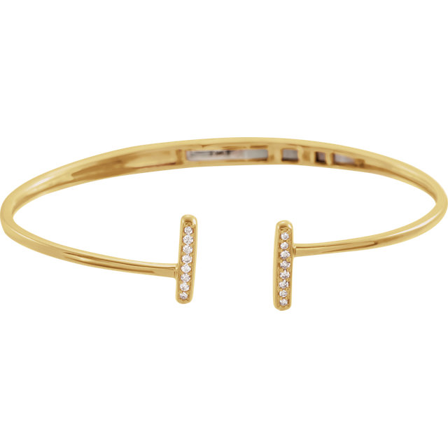Diamond Bar Hinged Bracelet #651857