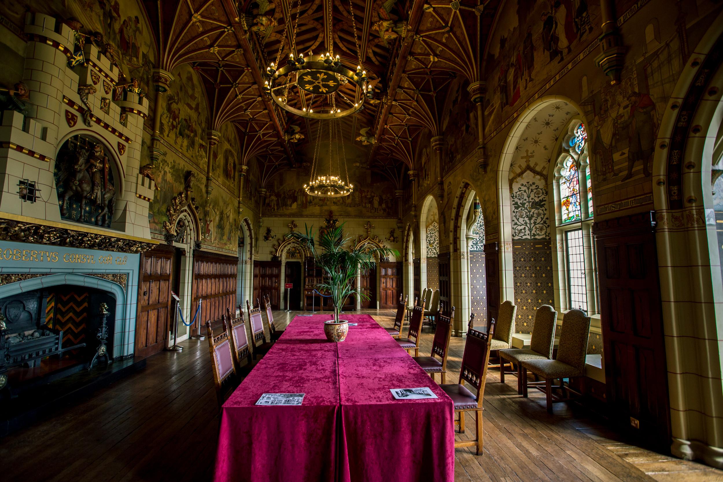 cardiff castle interior hall