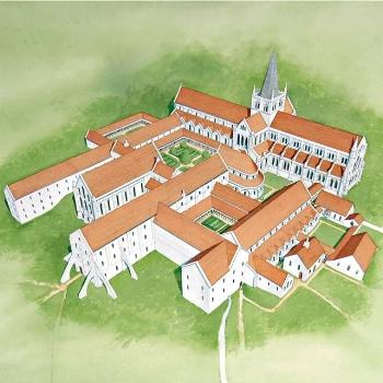 Rievaulx Abbey in ~1500
