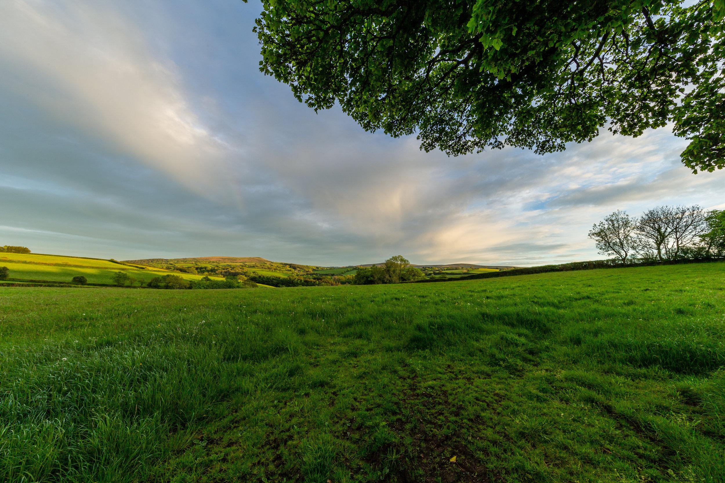 devon countryside big sky view