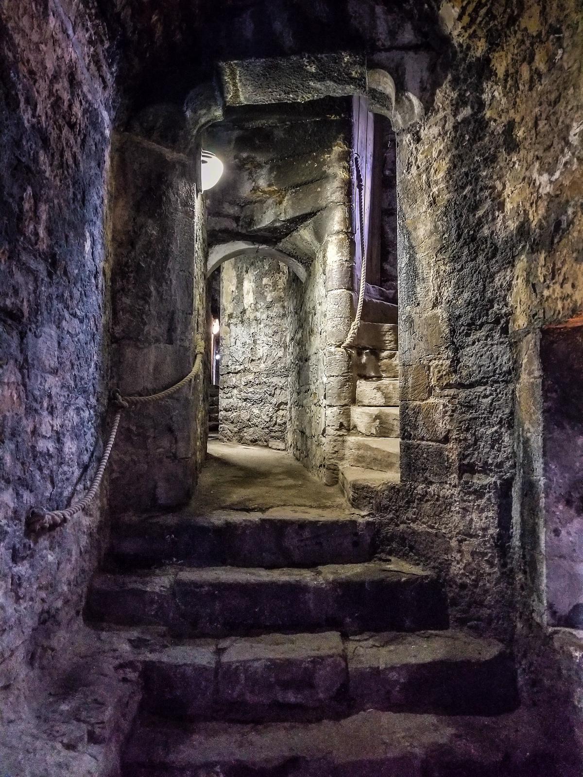 beaumaris castle twisting passages ©jennifer bailey 2018 (samsung galaxy s8)