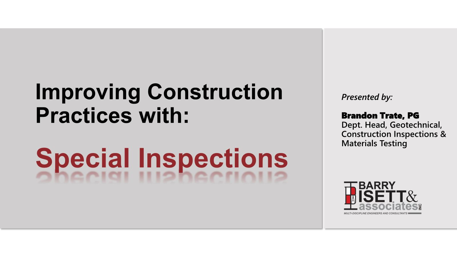 Barry Isett & Associates - Geotechnical, Construction