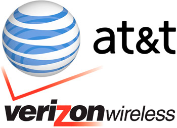 AT&T and Verizon logos