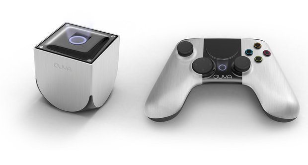 The Ouya console and controller