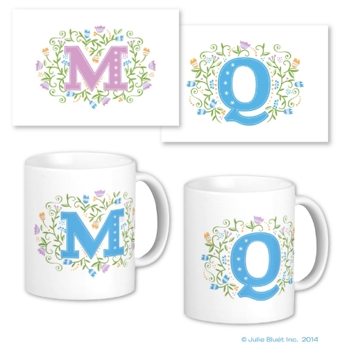 Monogrammed Mugs and Note Cards