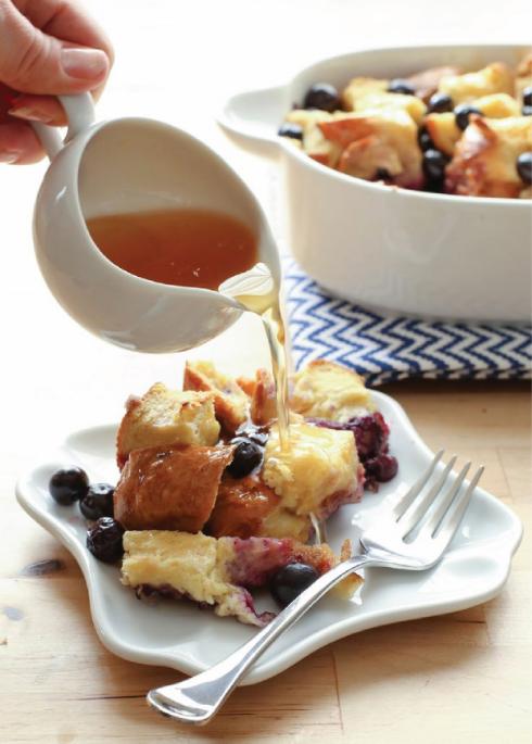 Blueberry Lemon Baked French Toast