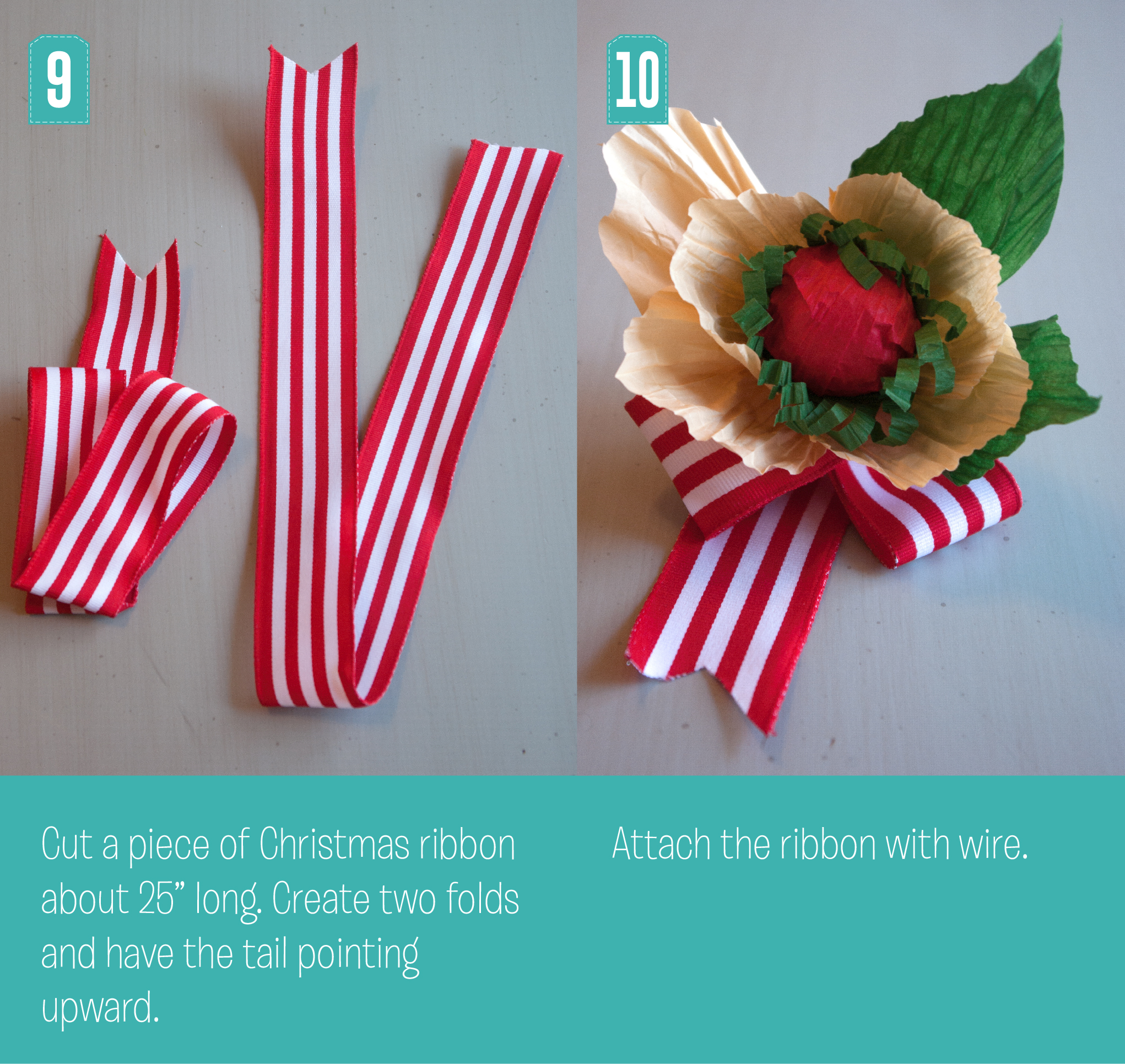Christmas Poppy Steps 9 and 10