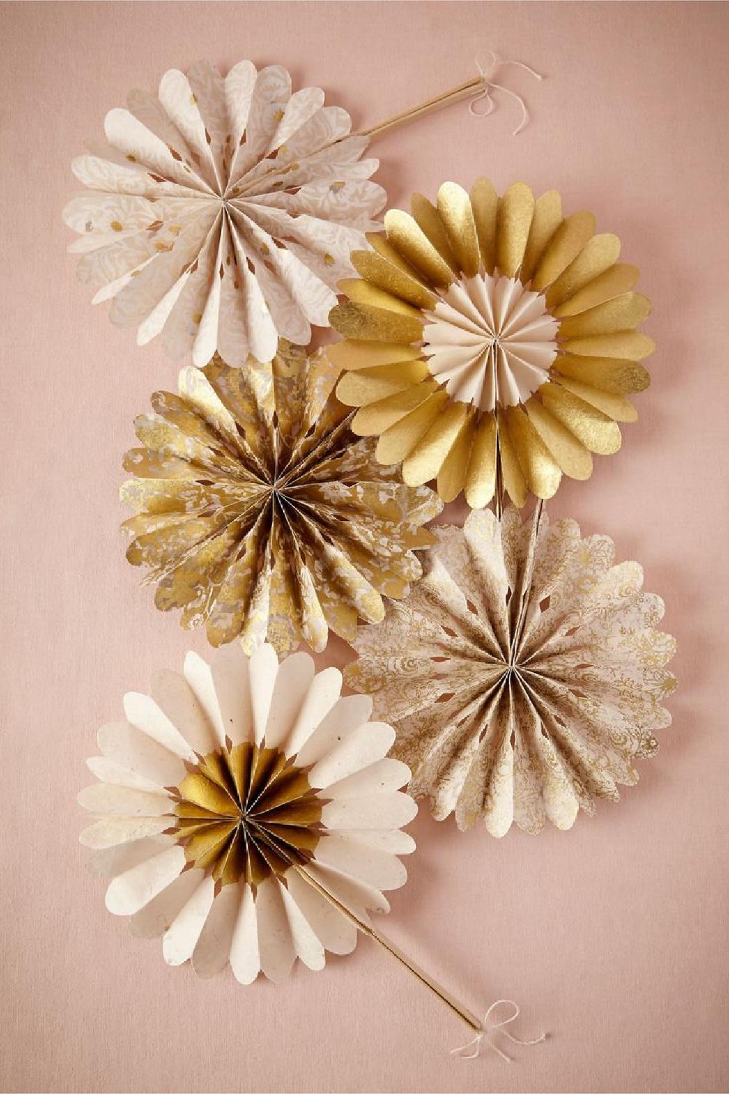 Gold Paper Ornaments