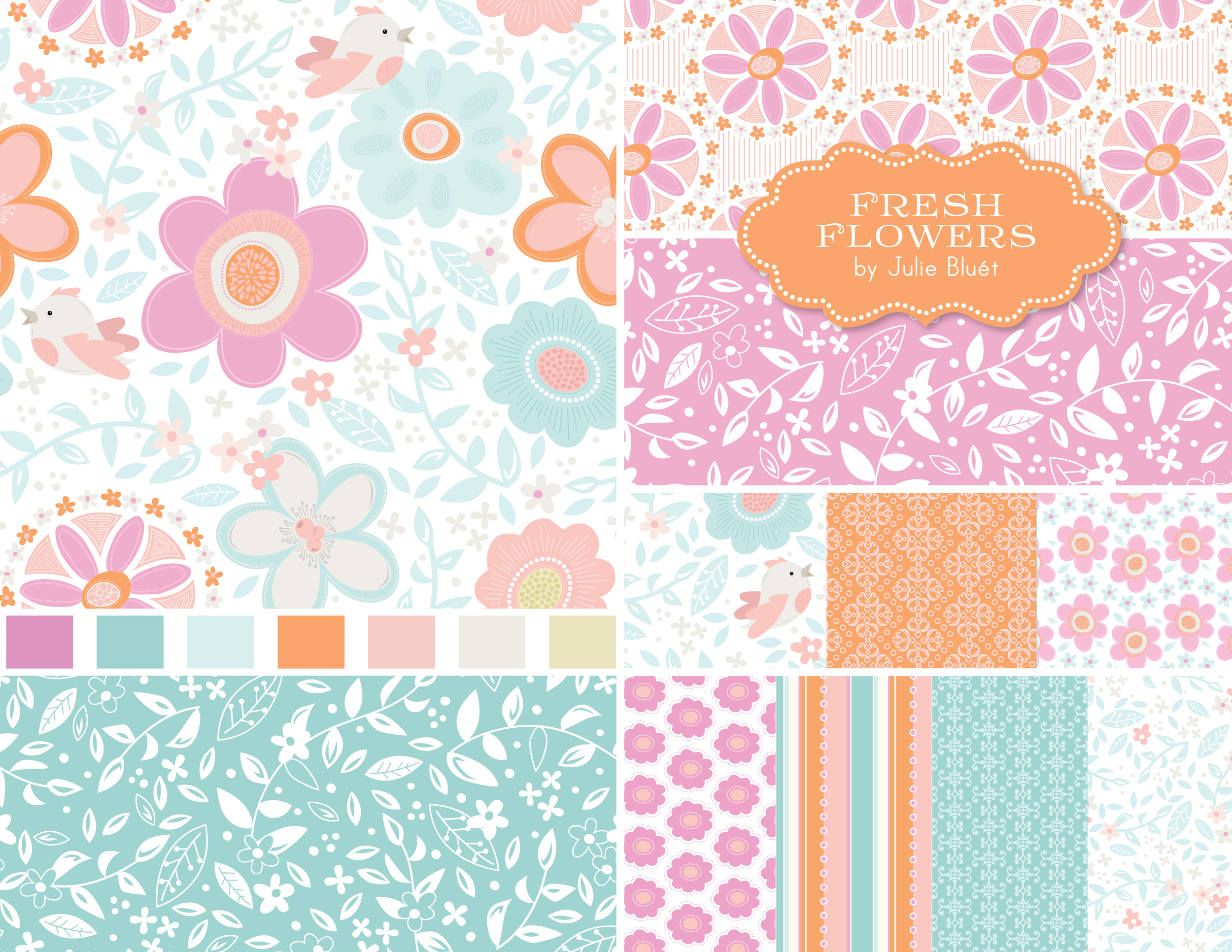 Fresh Flowers Pattern Design Collection