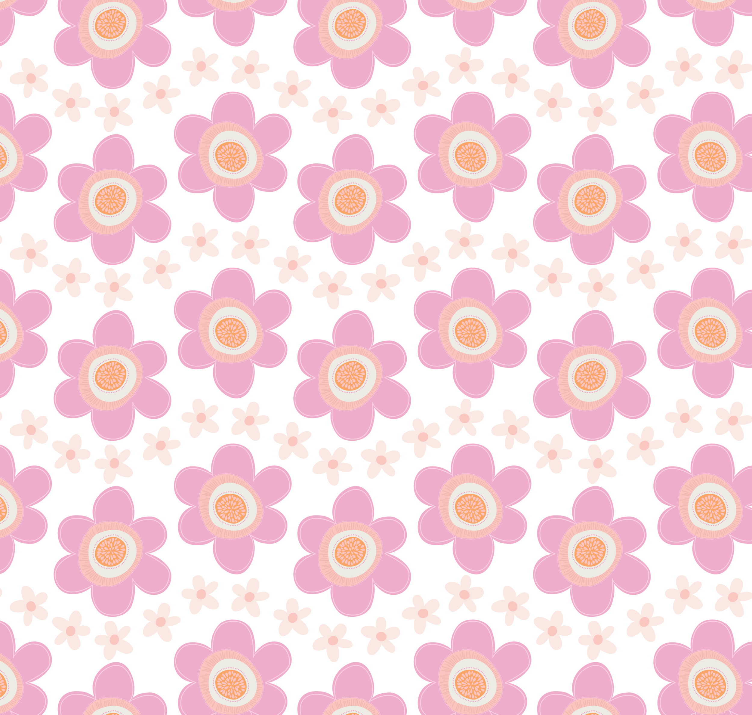 Fresh Flowers Pattern with Buds
