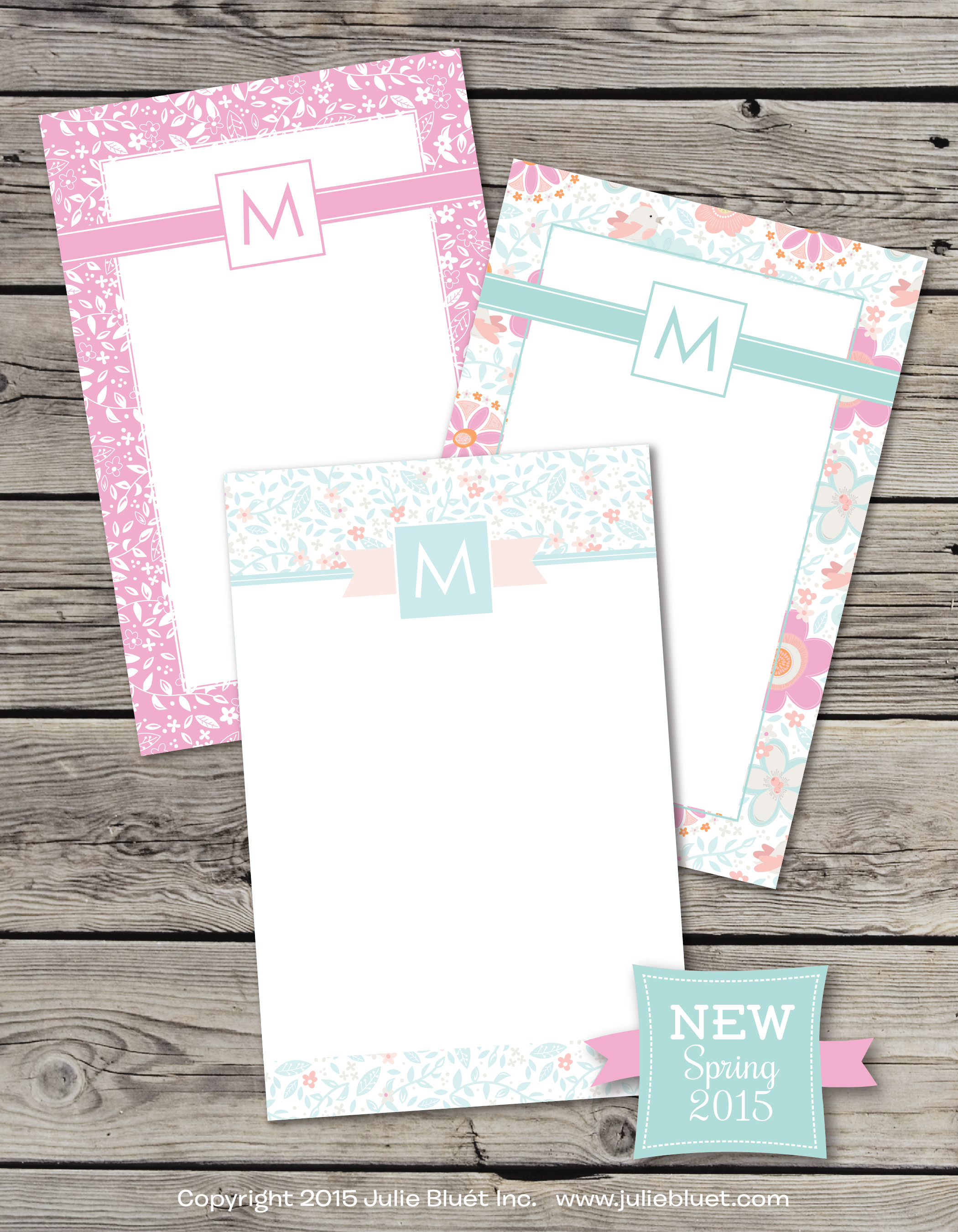 Spring 2015 Note Pads