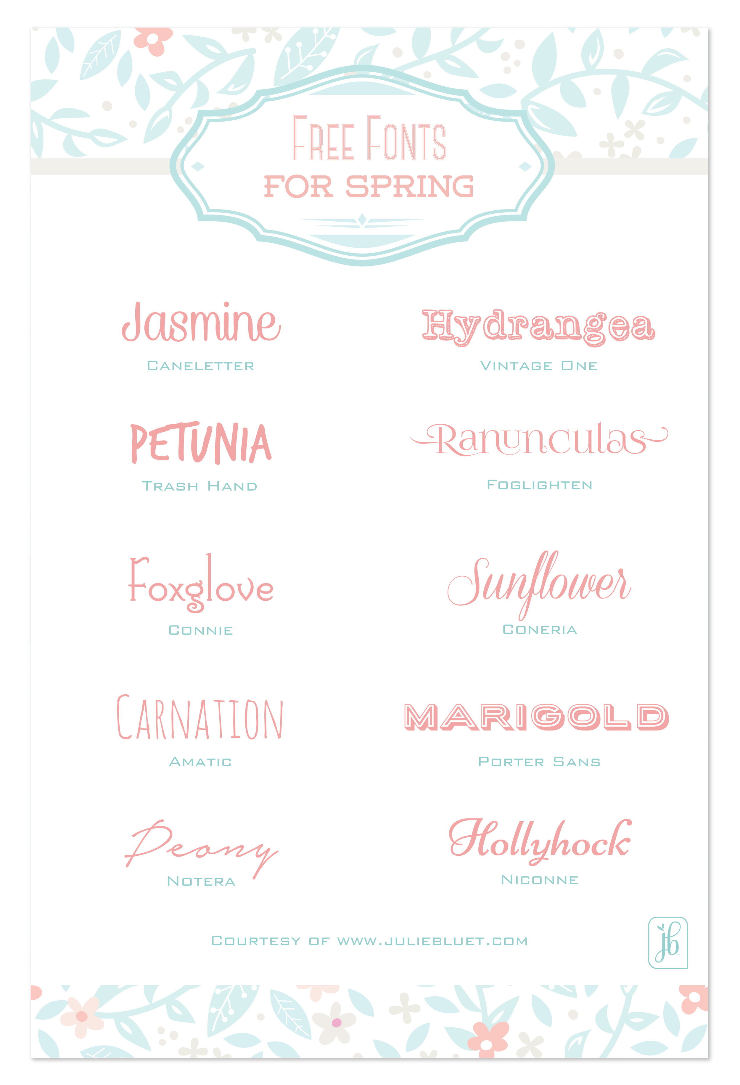 Free Fonts for Spring