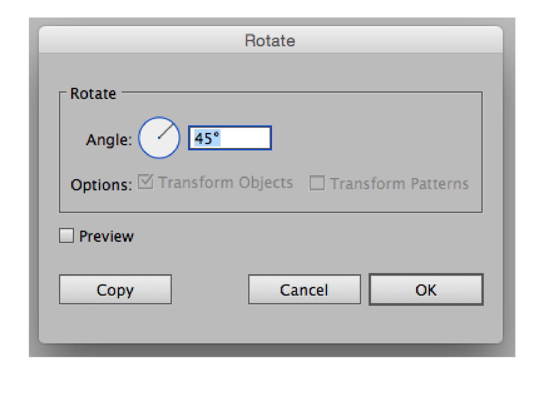 Rotate Dialog Box