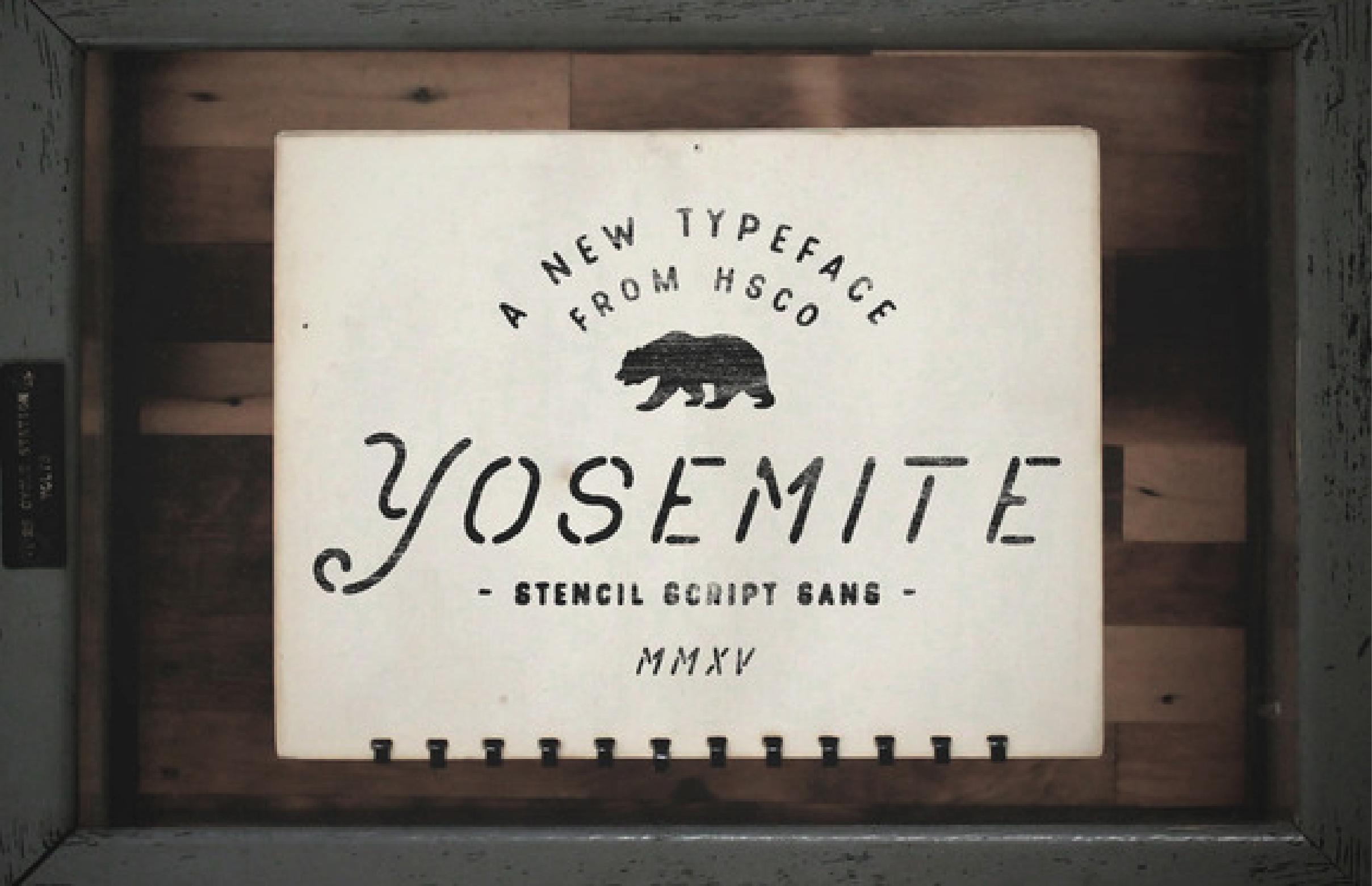 Yosemite Typeface