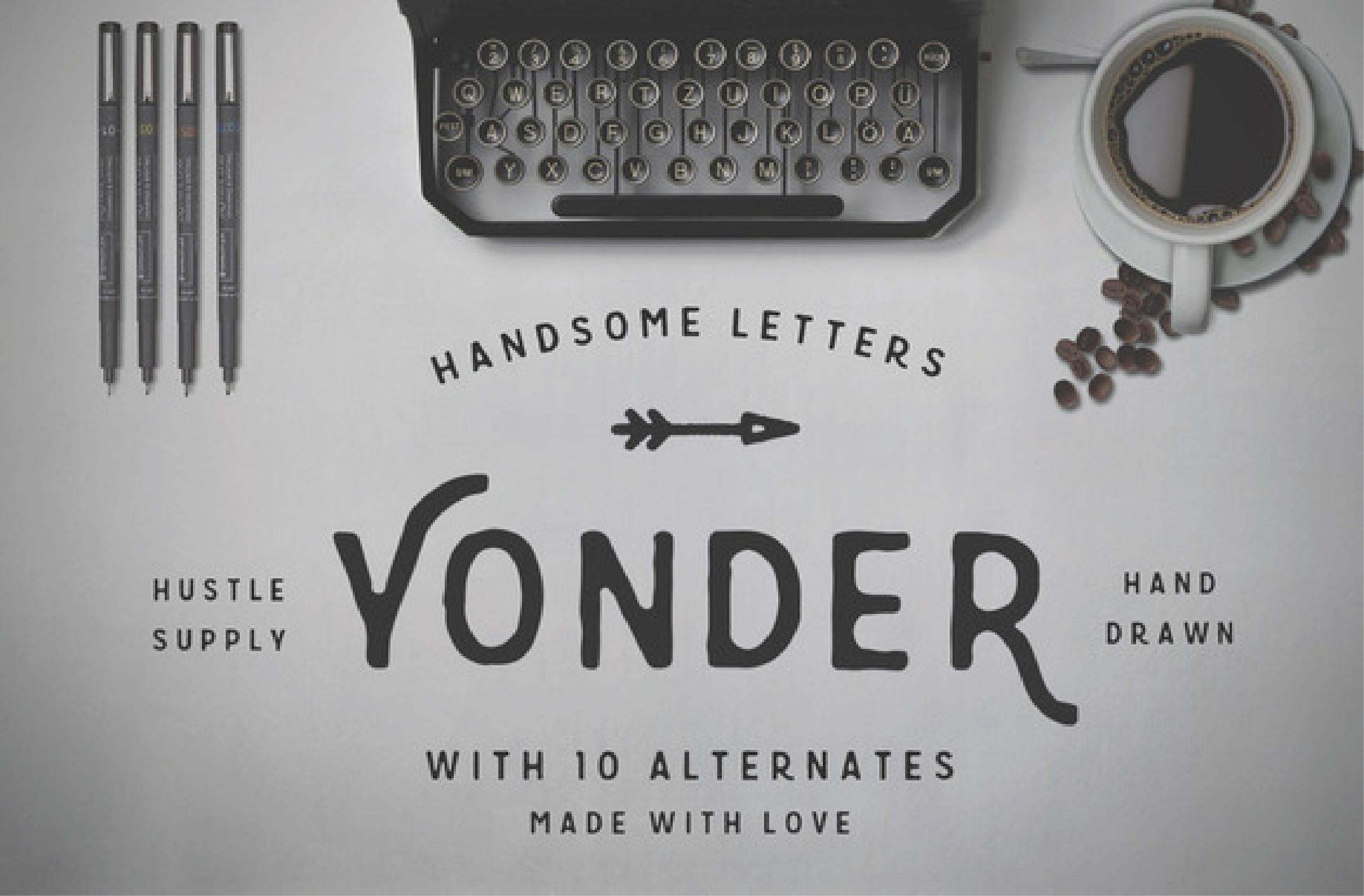 Yonder Typeface