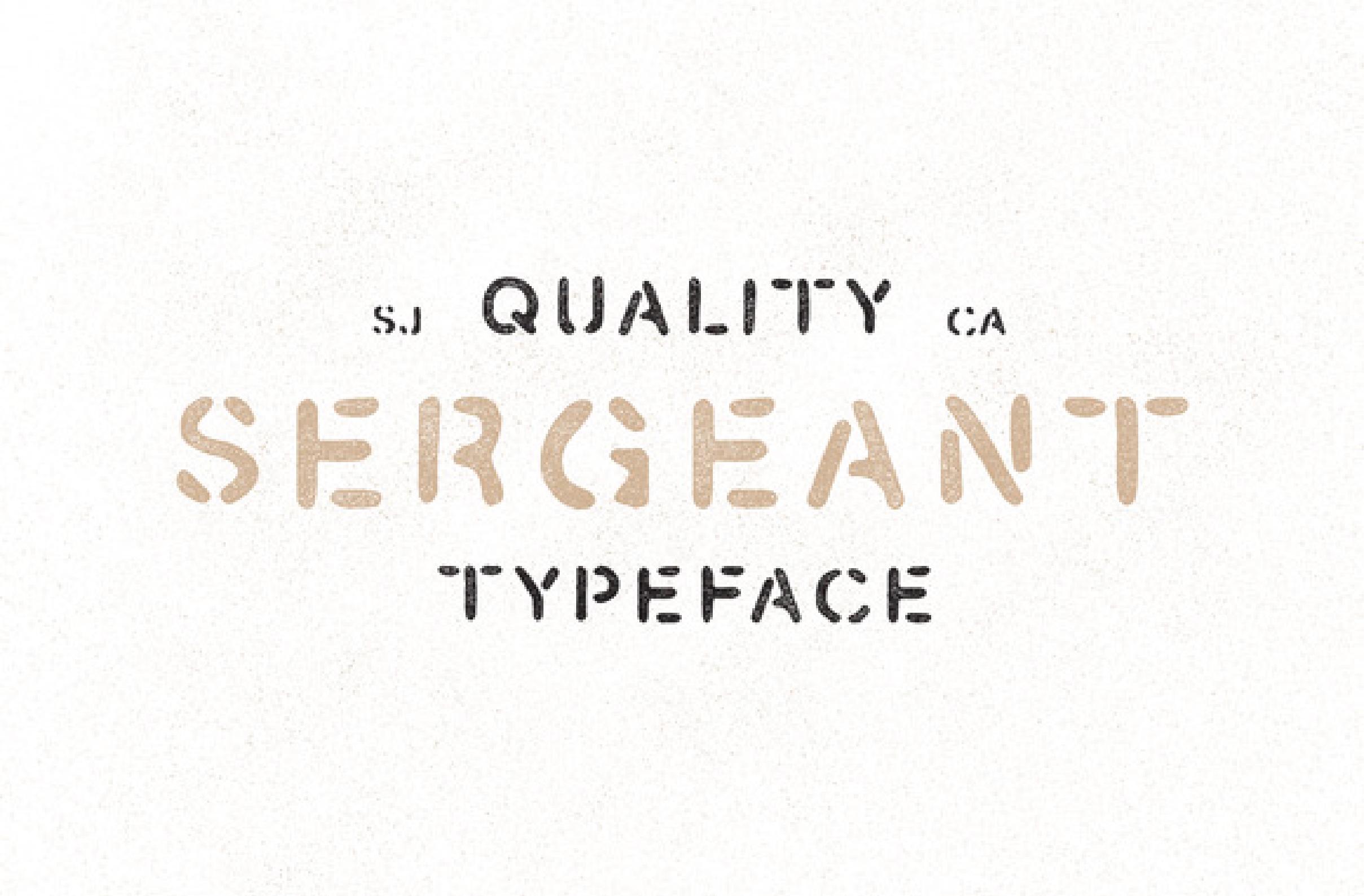Sergeant Typeface