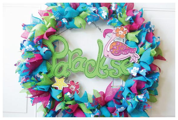 Hawaiian Luau Wreath from Dilly Bean on Etsy