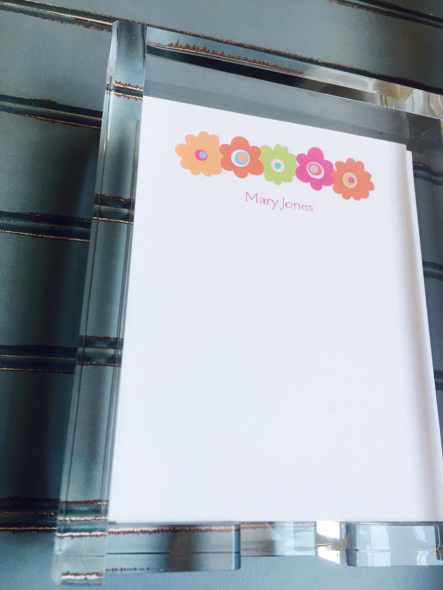 Acrylic Note Pad Holder with Note Pad