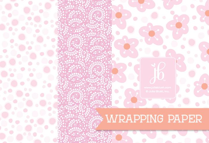 Just Pink Gift Wrap Set