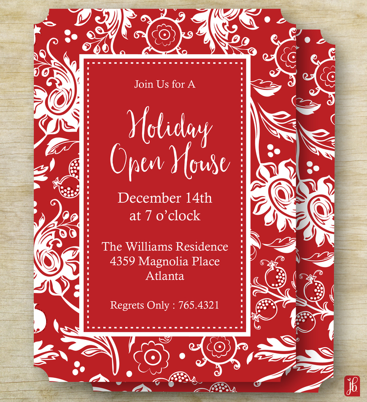 Elegant Holiday Party Invite Julie Bluet
