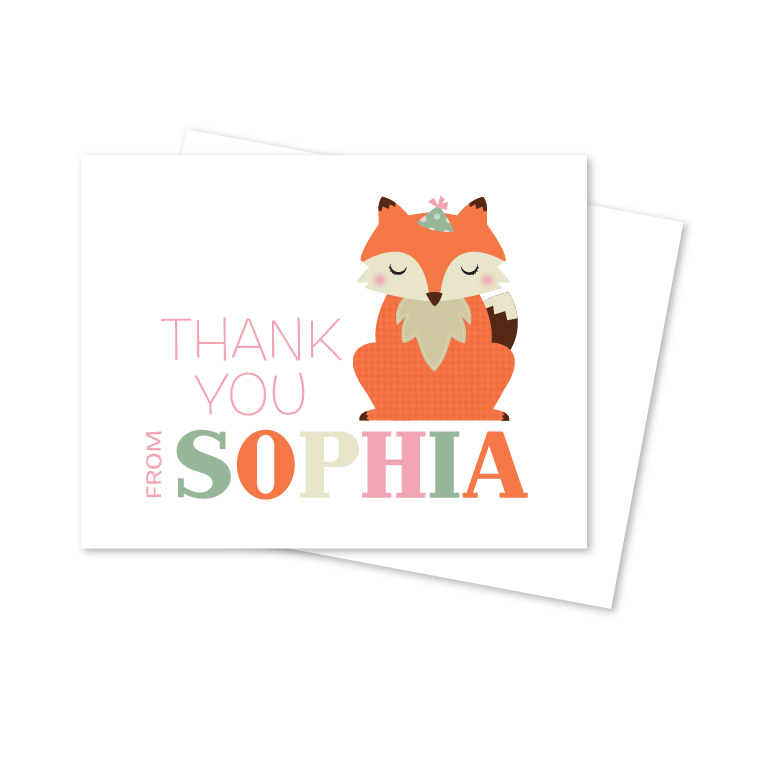 Kid's Personalized Note Cards
