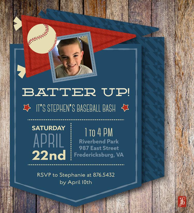 Baseball Party Invitation Julie Bluet