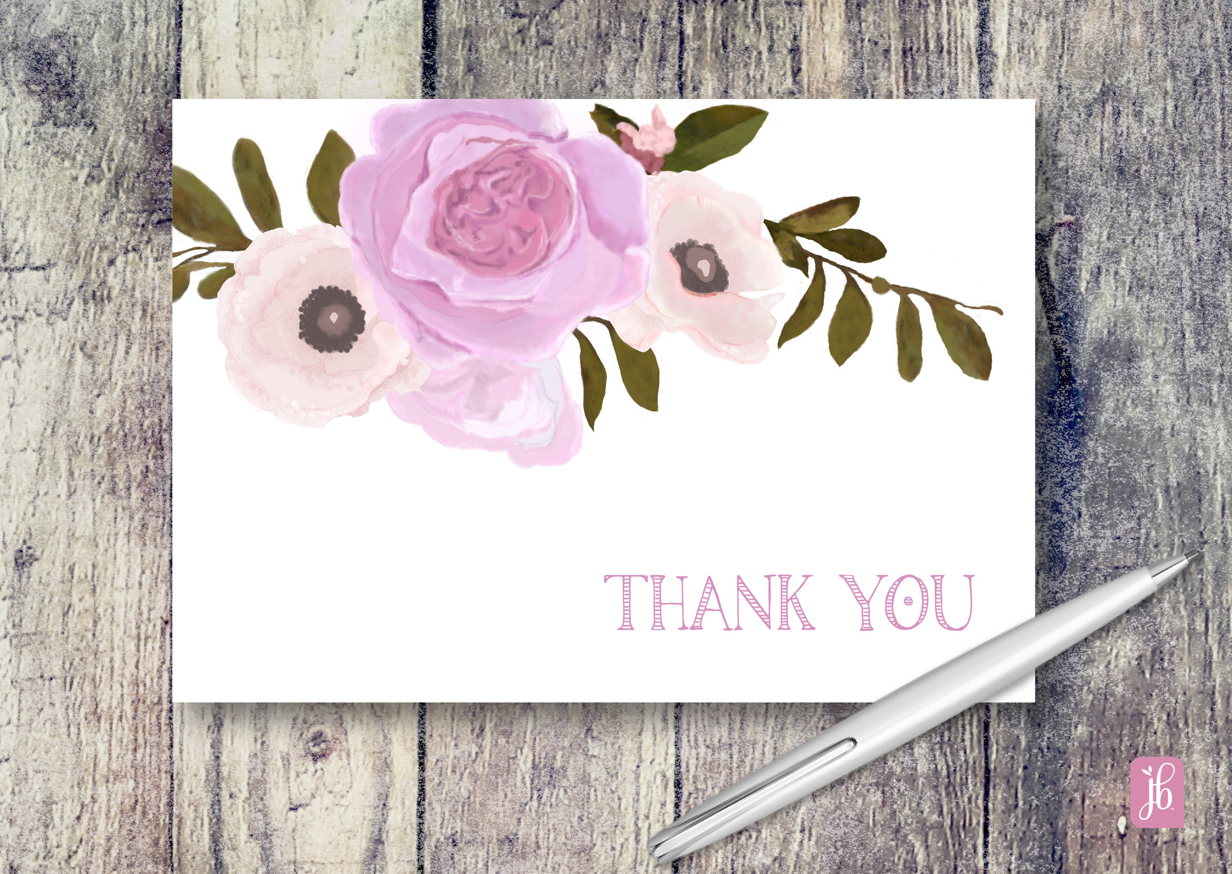 Rose Bouquet Note Cards