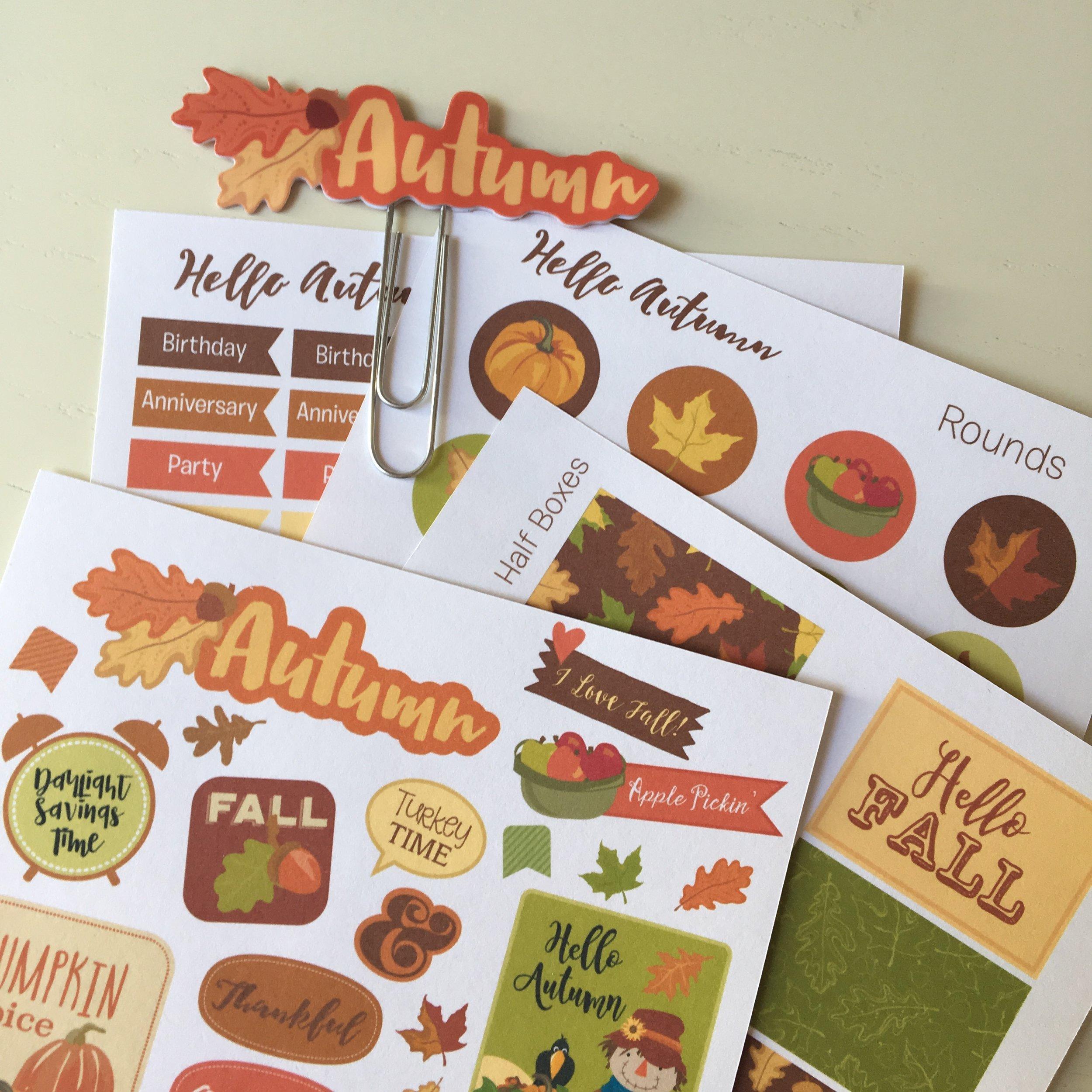 Autumn Planner Stickers