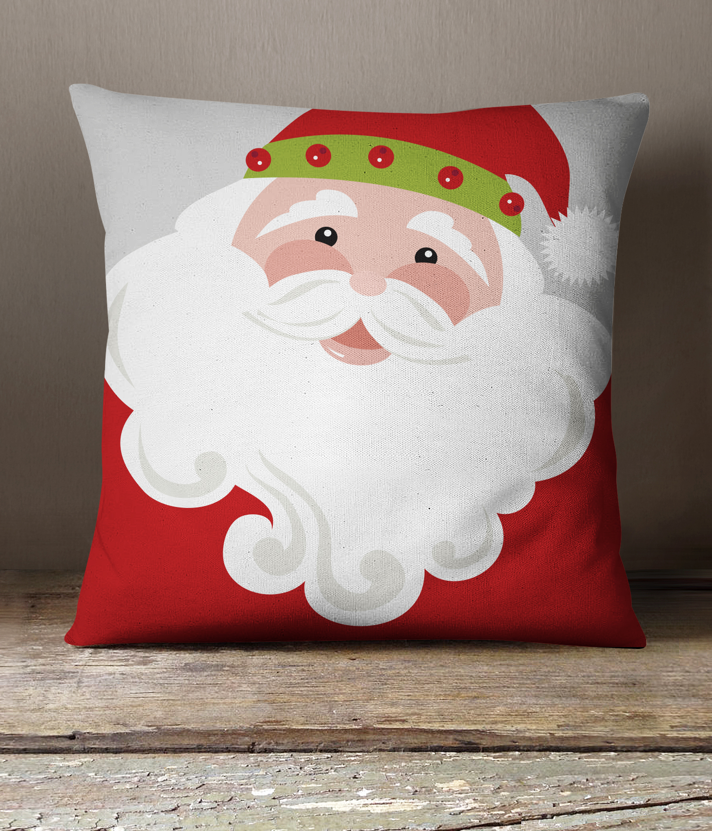 Jolly Santa Pillow