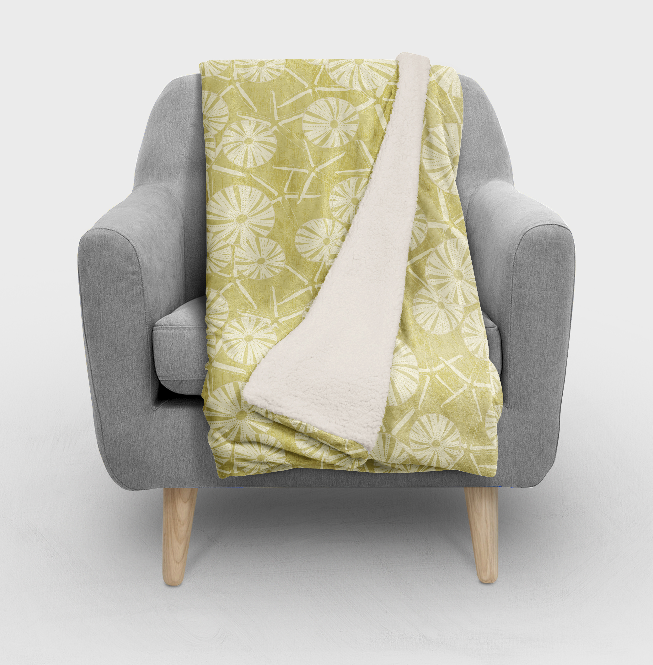 Gold Seashell Blanket