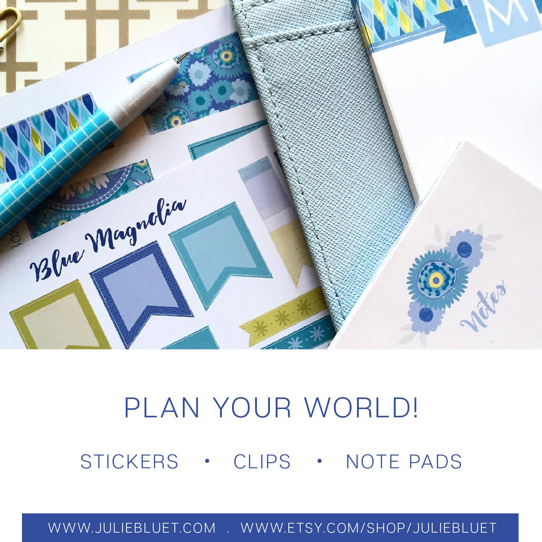 Blue Magnolia Planner Accessories