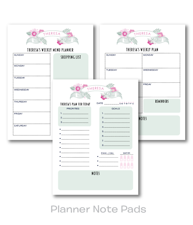 Planner Note Pads