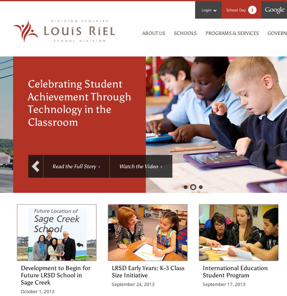 LRSD Homepage - 2012