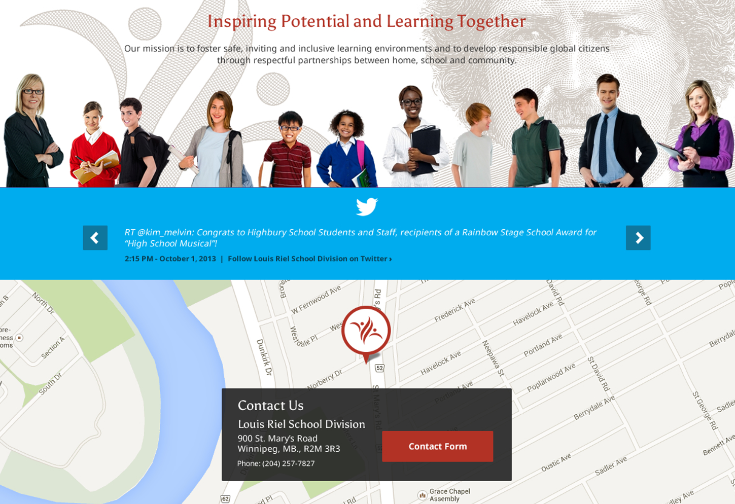 Interactive Motto Zone from 2012 LRSD Homepage