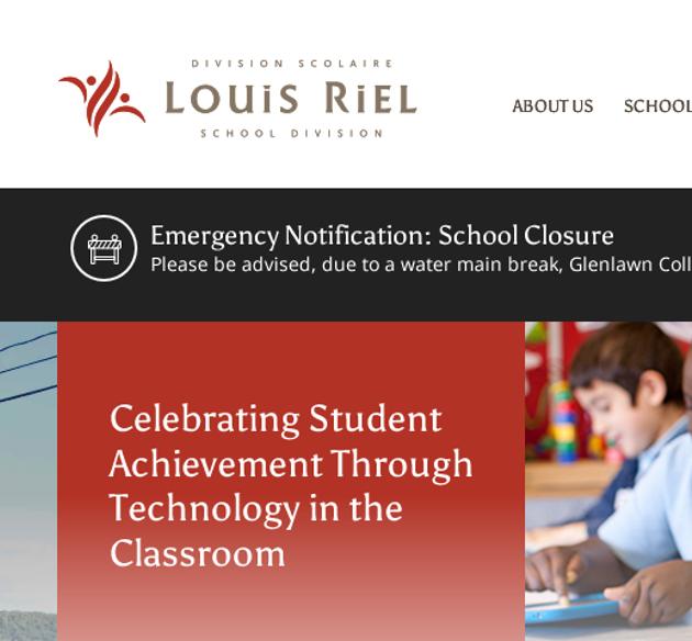 School Notification Example