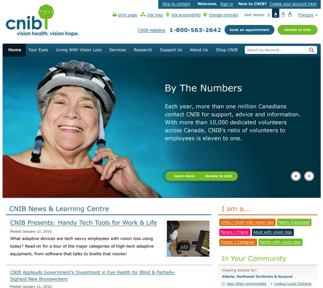 CNIB Homepage