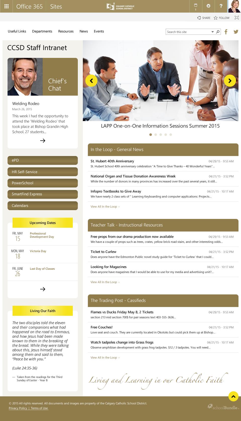 CCSD Employee Intranet (Portal)
