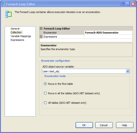 Working with ADO Net variables in SSIS scripts — SSIS - SQL