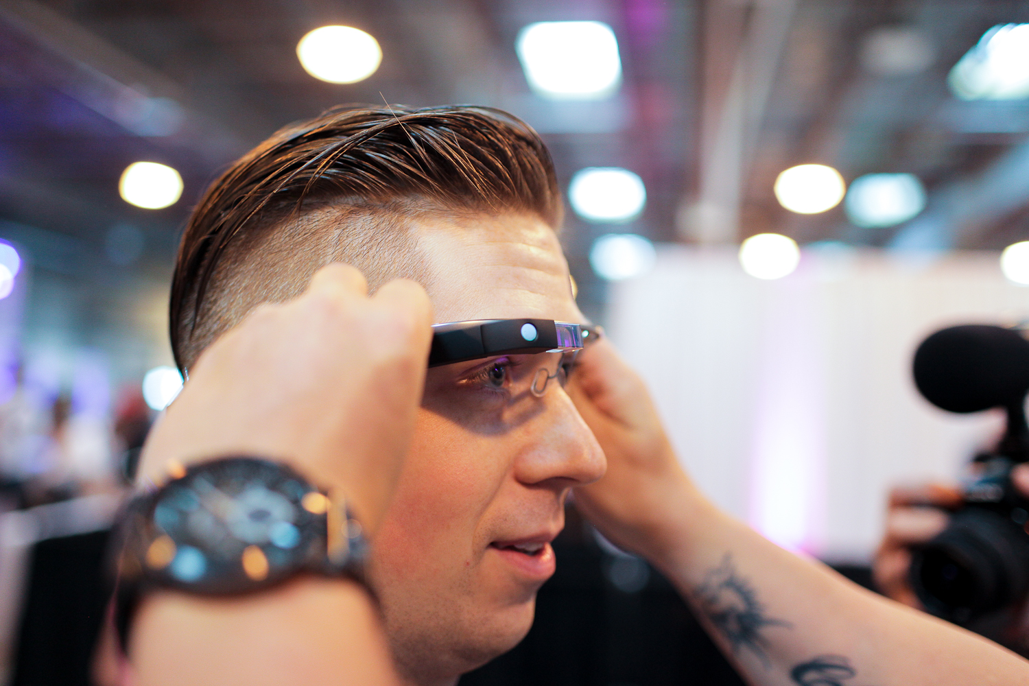 Google Glass being tested at the first ever Vlogger Fair in Seattle Saturday, June 8th at the Port of Seattle Terminal 5.