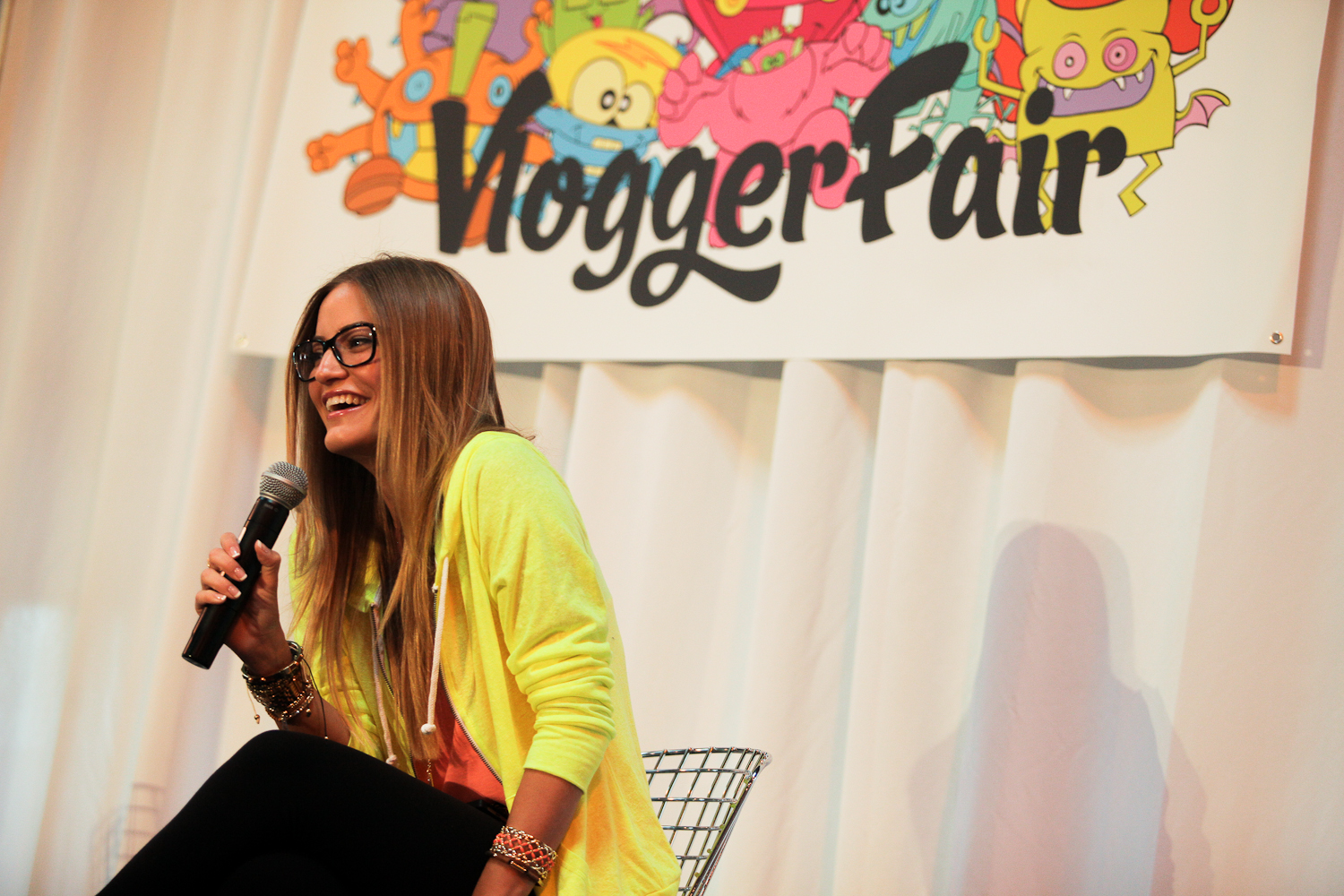 Justine Ezarik, better known as iJustine at the first ever Vlogger Fair in Seattle Saturday June 8 at the Port of Seattle Terminal 5.
