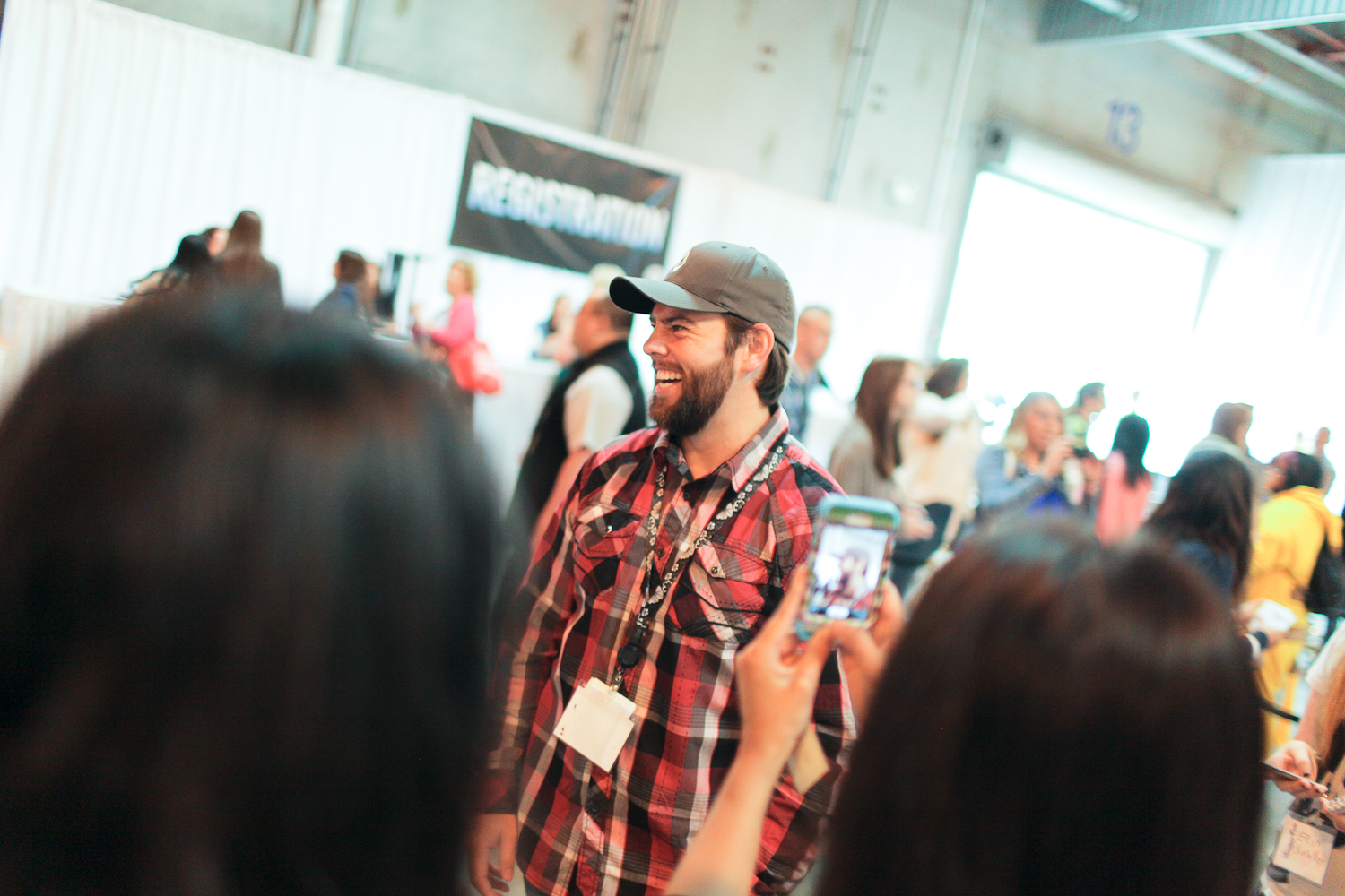 Shay Carl at the first ever Vlogger Fair in Seattle Saturday June 8 at the Port of Seattle Terminal 5.