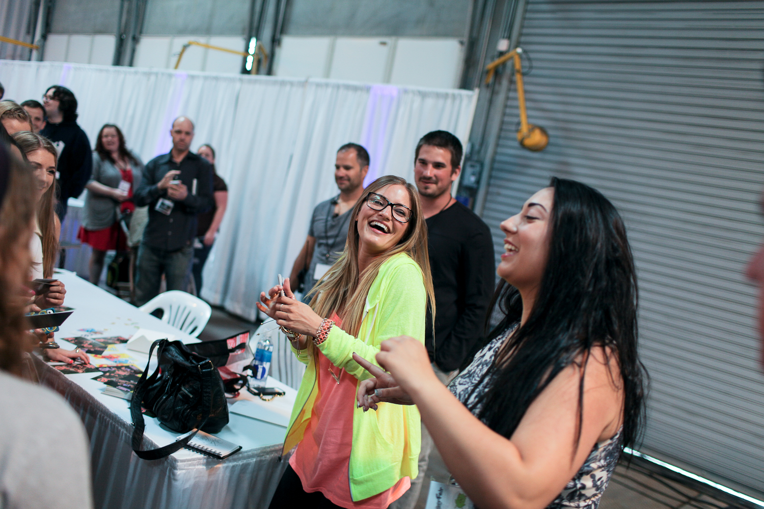 iJustine at the first ever Vlogger Fair in Seattle Saturday June 8 at the Port of Seattle Terminal 5.