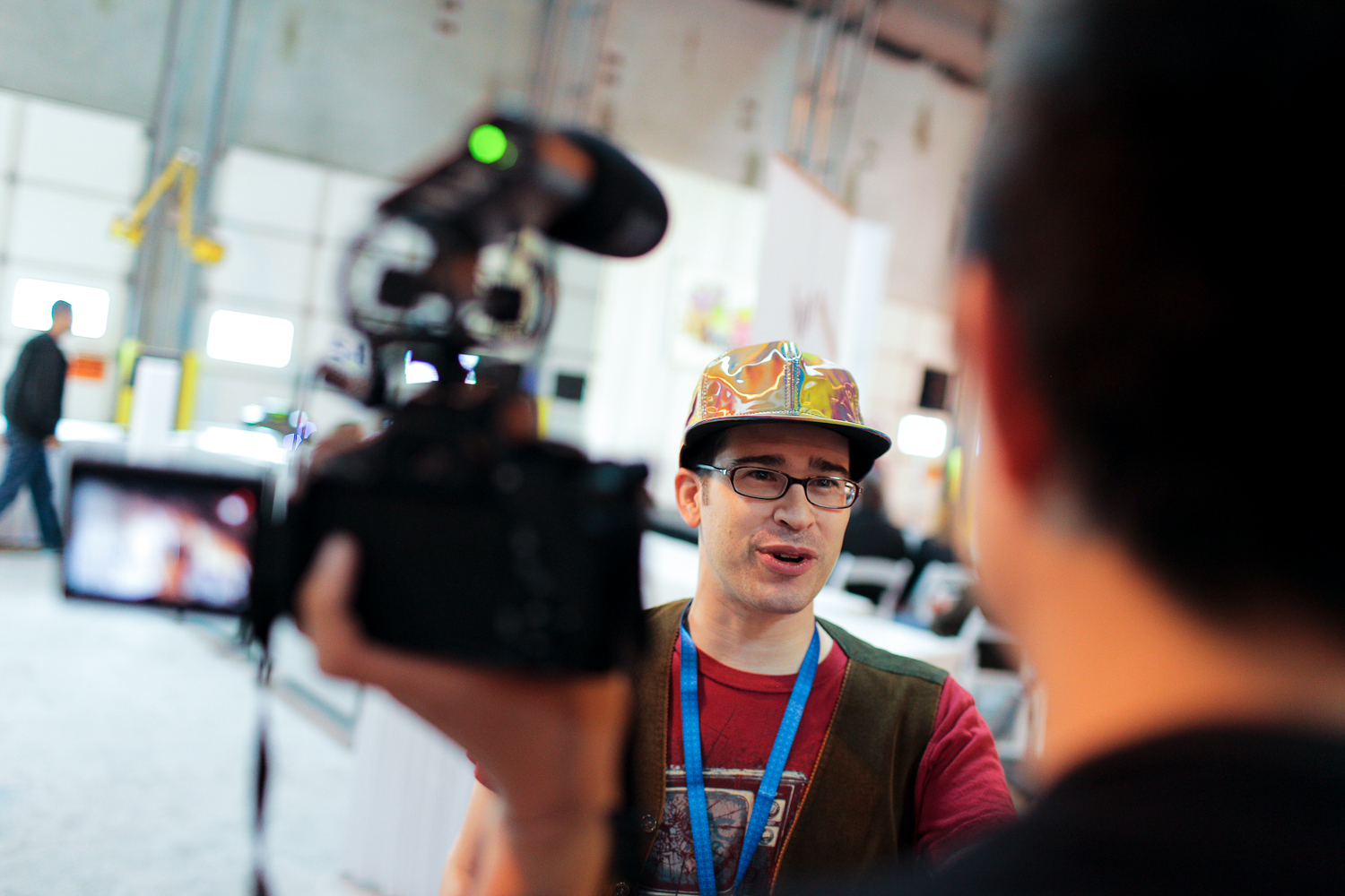 Chris Pirillo at the first ever Vlogger Fair in Seattle Saturday June 8 at the Port of Seattle Terminal 5.